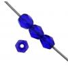 Fire polished 4mm Cobalt Blue